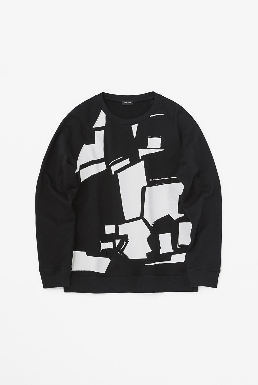 Geometric Print Crew Neck Sweat