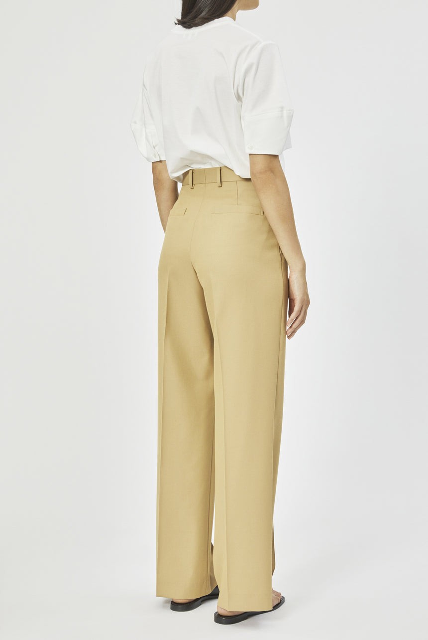Chambray Wool Teak Trousers