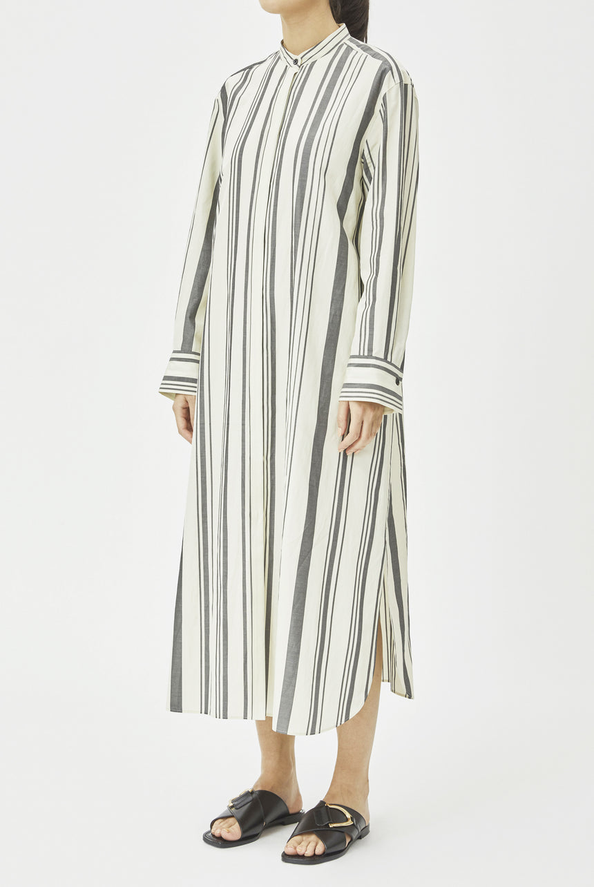 Silk Stripe Dress