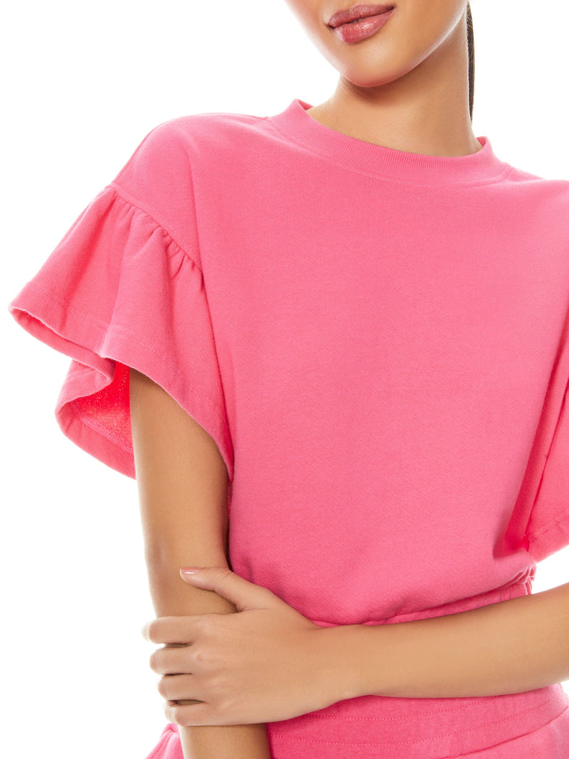 JOLINE RUFFLE SLEEVE CROPPED PULLOVER_4