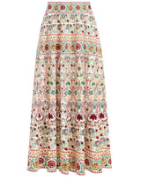 EARLA EMBROIDERED MIDI SKIRT