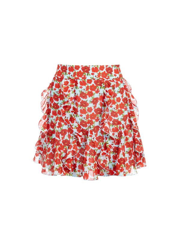 SHERLEY FLORAL MINI SKIRT