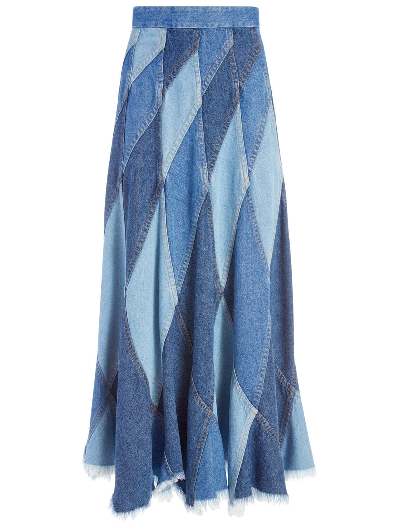 PIERRE PATCHWORK MIDI SKIRT