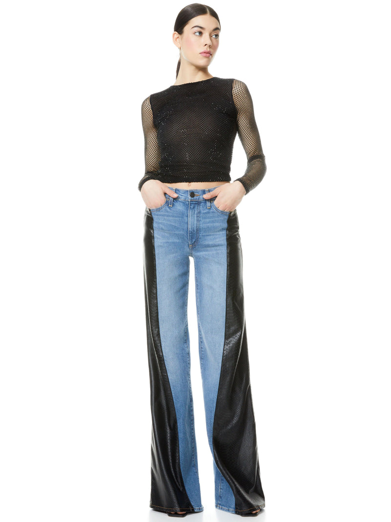 MAX ASYM VEGAN LEATHER DENIM PANT_5