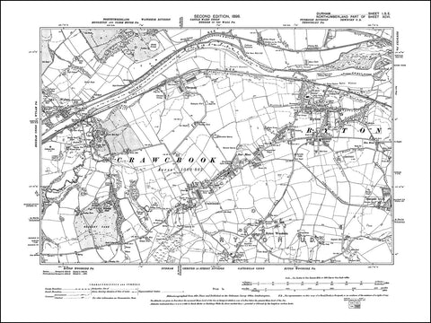 DURHAM 01SE : Old map of Ryton, Crawcrook in 1898