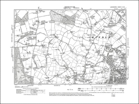 LANCASHIRE 100SE : old map of St Helens (northwest), Windle in 1909