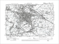 Hyde, Haughton, old map Cheshire 1910: 11NW
