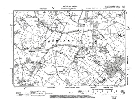 GLOUCESTERSHIRE 11SE : Old map of Forthampton in 1903