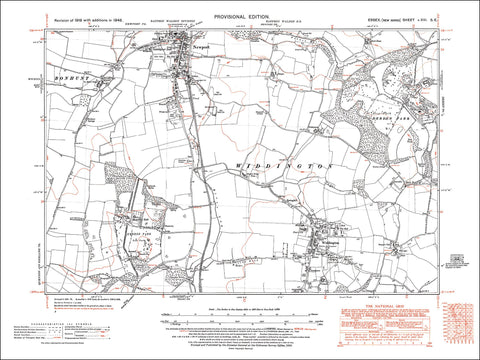Newport (S), Widdington, Quendon Park, Essex in 1946 (13SE)