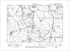 Woodchurch, Landican, Thingwall, Irby, old map Cheshire 1913: 13SW