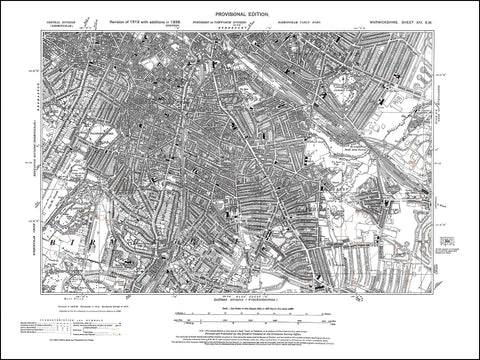 Birmingham, Highgate, Parkbrook, Sparkhill, Moseley in 1938 (14SW)