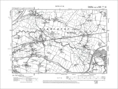 old map Cheshire 1911: 9SE Sale Northenden Baguley W