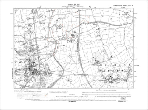 Bedworth, Bulkington, Marston Jabbett in 1926 (17NW)