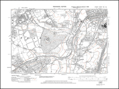 Banstead (south), Park Downs, Chipstead, How Hills, London County Hospital, Surrey in 1938 : 19-SE
