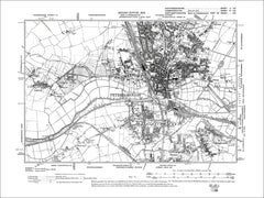 HUNTINGDONSHIRE 02SE : Old map of Peterborough, Fletton, Stanground in 1902