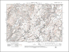 LANCASHIRE 02SW : old map of Hawkshead (north), in 1919