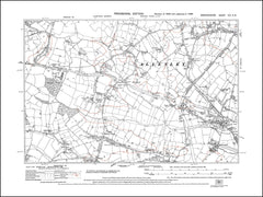 Allesley, Pickford, Hawkes End, Eastern Green - old map Warwickshire 1938 (21NW)