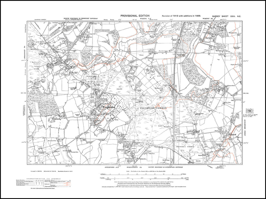 Worplesdon, Whitmoor Common, Surrey in 1938 : 23-NE