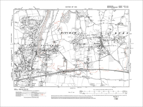 Maidenhead (E), old map Berkshire 1913: 24SE