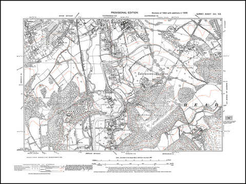 Leatherhead (south), Leatherhead Downs, Mickleham, Surrey in 1938 : 25-NE