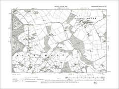 Steppingley, Eversholt (N), old map Bedfordshire 1902: 25NW