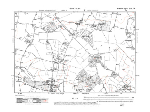 Downend, Chieveley (N), World's End, Oare, old map Berkshire 1913: 27SW