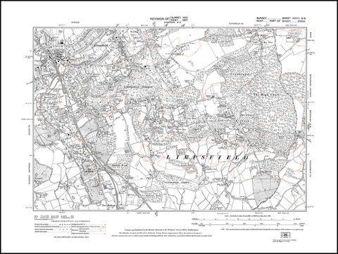 Limpsfield (south), Limpsfield Common, Surrey in 1933 : 28-SW
