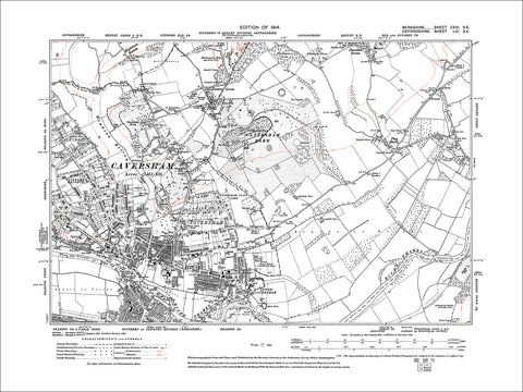 Caversham, Emmer Green, old map Berkshire 1914: 29SE