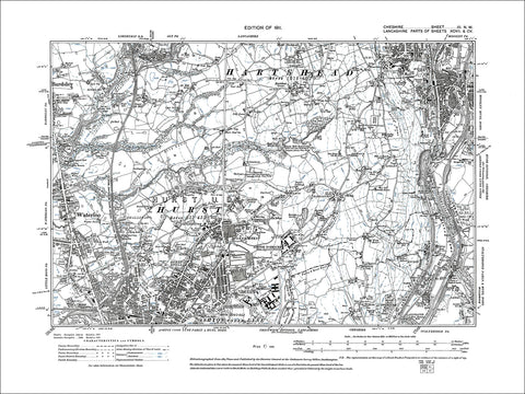 Millbrook (W), old map Cheshire 1911: 3NW