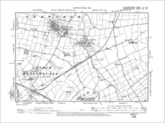 GLOUCESTERSHIRE 03SE : Old map of Pebworth, Broad Marston, Long Marston in 1903