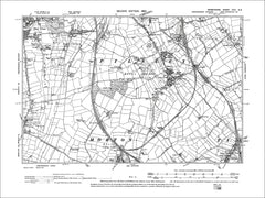 Clay Cross (S), Pilsley, Tibshelf, Stretton, Old Map Derbyshire 1900: 30SE