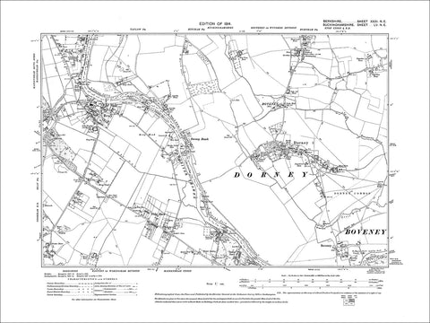 Bray, Tithe Barn, Water Oakley, old map Berkshire 1914: 31NE