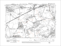 Holyport, White Waltham, Cox Green, old map Berkshire 1914: 31NW