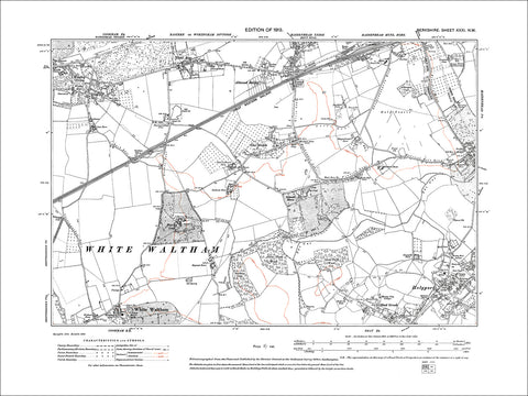 Woolley Green, Tittle Row, Altwood Bailey, old map Berkshire 1914: 31NW