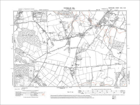 Moneygrow Green, Touchen-end, old map Berkshire 1913: 31SW