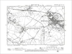 Dunstable, Totternhoe, old map Bedfordshire 1902: 32NW