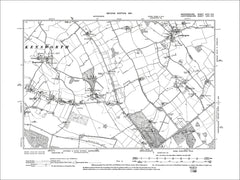 Caddington, Kenworth, old map Bedfordshire 1901: 32SE