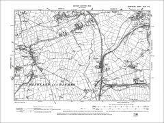 Shirland, Morton, Stonebroom, Tibshelf, Old Map Derbyshire 1900: 35NE
