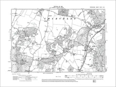 Curridge, Longlane, old map Berkshire 1913: 35NW