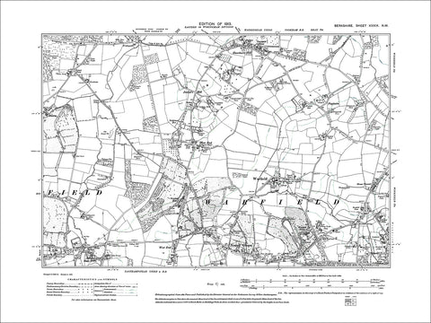 Jealott's Green, Hawthorn Hill, old map Berkshire 1913: 39NW