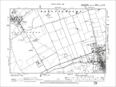 HERTFORDSHIRE 04NE : Old map of Royston in 1899