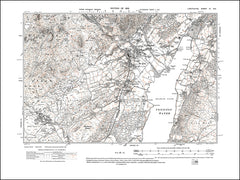 LANCASHIRE 04NE : old map of Coniston, Bowmanstead, Banishead Quarry, in 1919