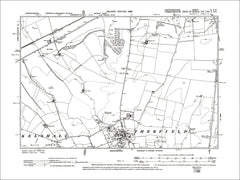 HERTFORDSHIRE 04SE : Old map of Therfield in 1899
