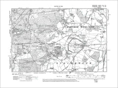 HAMPSHIRE 04SE : Old map of Silchester, Pamber Heath, Mortimer West End in 1913