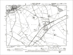 HERTFORDSHIRE 04SW : Old map of Ashwell in 1899