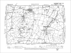 GLOUCESTERSHIRE 04SW : Old map of Quinton, Admington in 1903