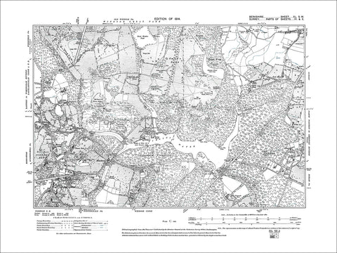 Blacknest, Beggar's Bush, old map Berkshire 1914: 40SW