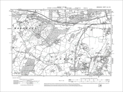 Newbury (W), Enborne, old map Berkshire 1913: 42NE