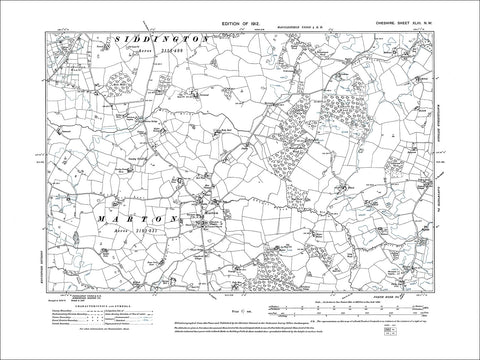 Marton, old map Cheshire 1912: 43NW