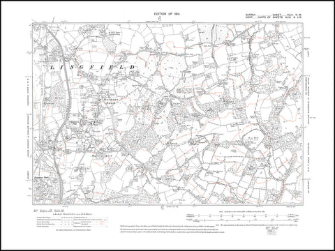 Lingfield (south), Dormans Land, Mutton Hill, Surrey in 1914 : 43-NW